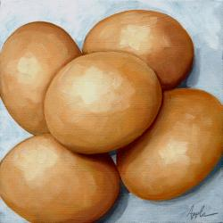 Brown Eggs - Still Life